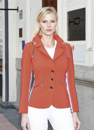 Chaqueta color rojo casual elegante